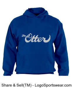 Otter Hoodie - Royal Blue/Lt Grey Design Zoom